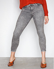 Noisy May Lys grå Nmkimmy Nw Ankle Zip Jeans AZ006LG