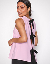 River Island Pink Bow Back Shell Top