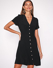 New Look Black Button Front Tea Dress