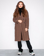 Only Lys rosa onlHOUSE Check Wool Coat Otw