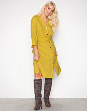 River Island Yellow Short Sleeve Dress