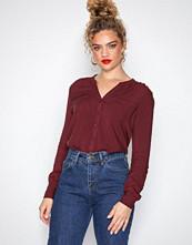 Only Mørk lilla onlFIRST Ls Pocket Shirt Noos Wvn