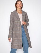 New Look Brown Check Revere Collar Coat