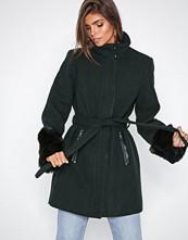Vero Moda Mørk grå Vmprato Fur 3/4 Wool Jacket