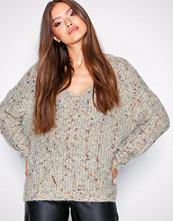Only Lys grå onlHANNI L/S V-Neck Pullover