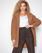Only Camel onlAURELIA Oversized Shearling Coat