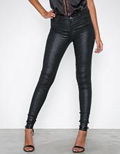 Vila Svart Vicommit Rw Glitter Coat Jeans/1