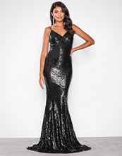 U Collection Black Sequin Maxi Dress