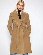 Lauren Ralph Lauren Medium Beige Solid Wl Wrp-Coat