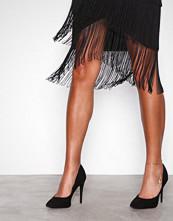 New Look Black Suedette Stiletto Heel Pointed Courts