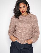 Selected Femme Lys brun Slfhai Ls Knit Crop O-Neck B