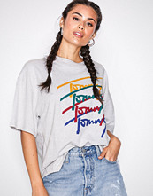 Tommy Jeans Pale Grey Tjw Multi Logo Tee