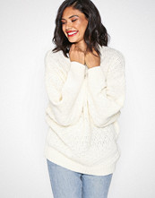 Selected Femme Cream Slfhilla Ls Knit Oversize O-Neck B