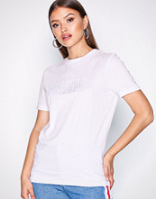 Selected Femme Hvit Slfmy Perfect Ss Tee - Box Cut Emb.