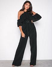 U Collection Offshoulder Jumpsuit Black