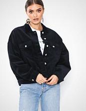 Jacqueline de Yong Mørk blå Jdyelya Oversized Jacket Heavy Cord