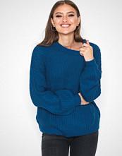 Jacqueline de Yong Mørk blå Jdyhanni L/S Pullover Knt