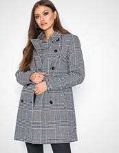Only Svart onlLINNEA Long Check Coat Otw