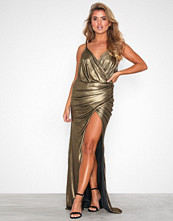 Forever Unique Golden Gold Metallic Long Sleeve Dress