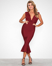 Forever Unique V-neck Midi Dress