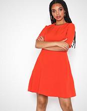 Calvin Klein Red Flared Satin Dress