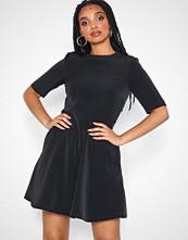 Calvin Klein Black Flared Satin Dress