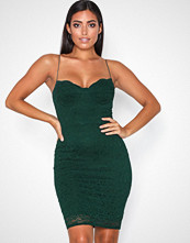 NLY One Grønn Lace Bodycon Dress