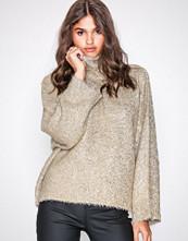 Selected Femme Lys brun Slfcora Ls Knit Rollneck B
