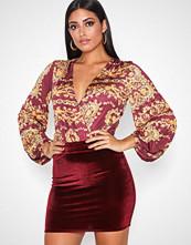 NLY One Burgundy Mini Velvet Skirt