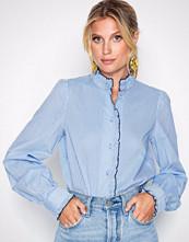 Vero Moda Blå Vmclaudia Ls Shirt