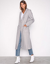 New Look Light Grey Bar Back Maxi Coat
