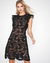 Michael Kors Black Corded Lace Dress