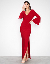 Lauren Ralph Lauren Red Ashlynara-3/4 Sleeve-Evening Dress