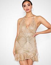 Love Triangle Rose Gold Cosmic Sparkle Mini Dress