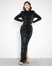 NLY Eve Svart Power Up Sequin Gown
