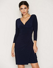 Lauren Ralph Lauren Navy Elsie-3/4 Sleeve-Day Dress