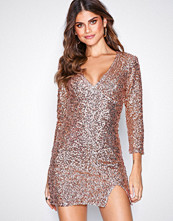 NLY One Rose Gold Fierce Sequin Dress