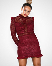 Love Triangle Heathers L/S Lace Mini Dress