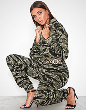 Missguided Green Camo Utility Jumpsuit