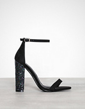 Missguided Glitter Block Heel