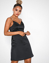 New Look Satin Diamanté Strap Mini Dress