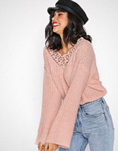 Pieces Rosa Pckaisee Ls V-Neck Knit