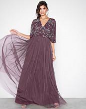 Maya Purple Cape Maxi Dress