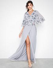 Maya Wrap Cape Maxi Dress