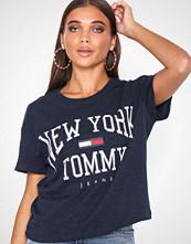 Tommy Jeans Black Iris Tjw Boxy New York Tee