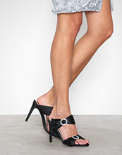 NLY Shoes Svart Diamond Heel Sandal