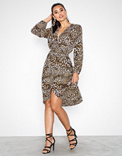 Ax Paris Multi Long Sleeve Midi Dress