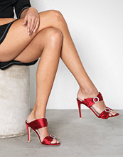 NLY Shoes Rød Diamond Heel Sandal