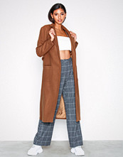 New Look Bar Back Maxi Coat Tan