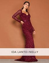 NLY Eve Burgundy Flora Dress